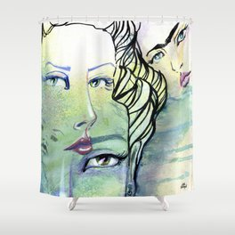 Fridalicious by Jane Davenport Shower Curtain