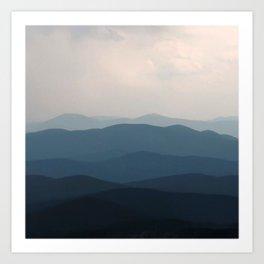 Watercolor Landscape, Niwot Ridge 01, Colorado Art Print