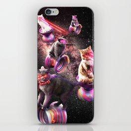 Galaxy Laser Yo-Yo Cat - Space Yo-Yo Cats with Lazer Eyes iPhone Skin