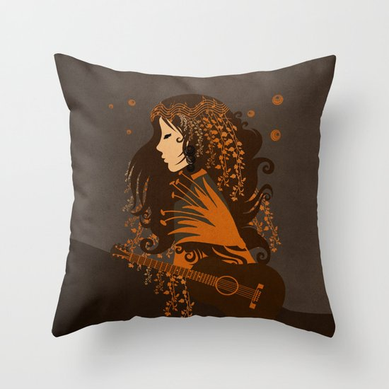 Mujer floral II Throw Pillow