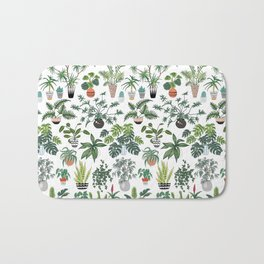 plants and pots pattern Bath Mat