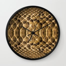 Snake skin pattern Wall Clock