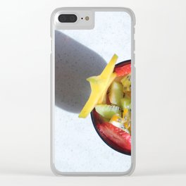 Fruit Salad Photography with special star shadow Clear iPhone Case