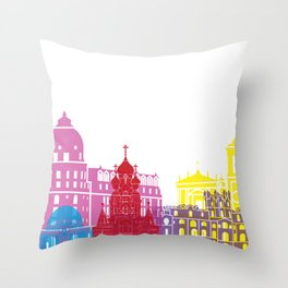 Nice skyline pop Throw Pillow