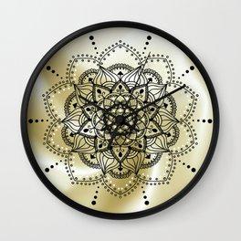 Gold and black mandala Wall Clock