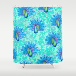 Peacock Plumage Shower Curtain