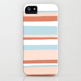 mesa, desert pastel stripes iPhone Case