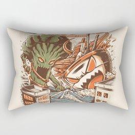 Kaiju Food Fight Rectangular Pillow