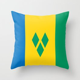 Saint Vincent and the Grenadines country flag Throw Pillow