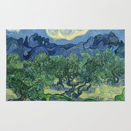 The Olive Trees by Vincent van Gogh Rug