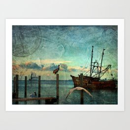 Somewhere...beyond the sea Art Print