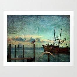 Somewhere...beyond the sea Art Print