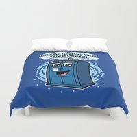 police Duvet Covers featuring The Little Police Box by Mike Handy Art