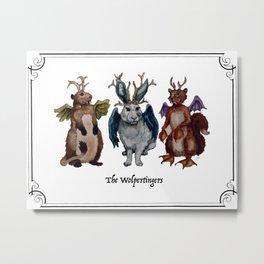 The Wolpertingers Metal Print