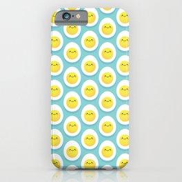 Cute hard boiled eggs iPhone Case