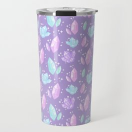 Magical Crystals // Purple Travel Mug