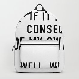 Consequences Backpack