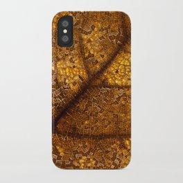 illuminated leaf iPhone Case