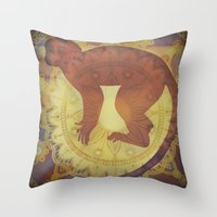 journey Throw Pillows featuring Journey by SpaceFrogDesigns
