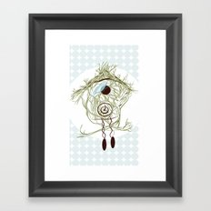 Coo coo clock Framed Art Print
