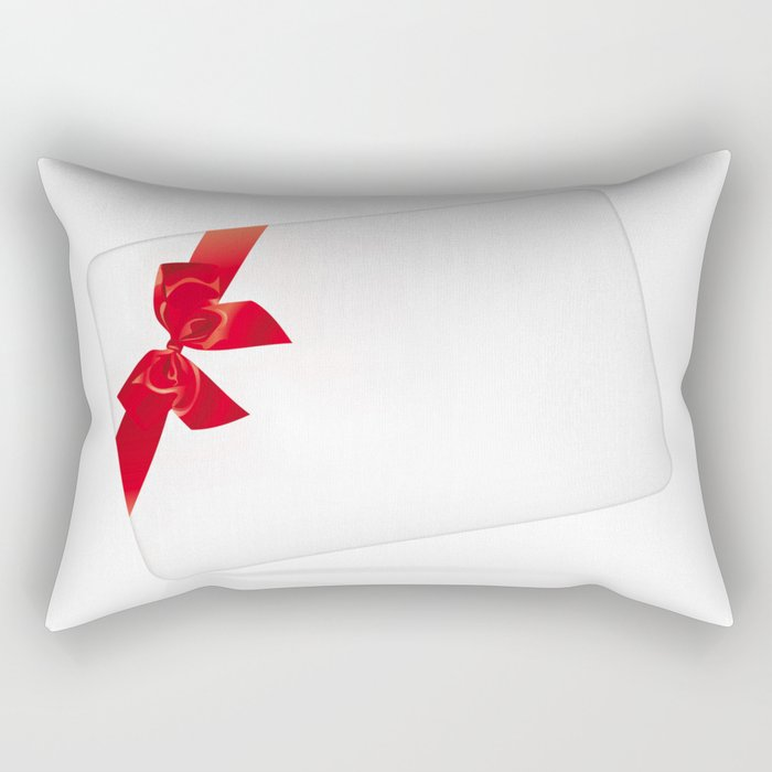 Card with red bow Rectangular Pillow