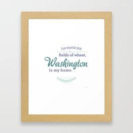 Washington Poster Framed Art Print