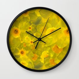Narcissus bouquet Wall Clock