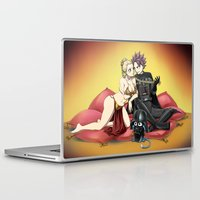 arya Laptop & iPad Skins featuring Natsu Vader / Lucy Leia by Arya