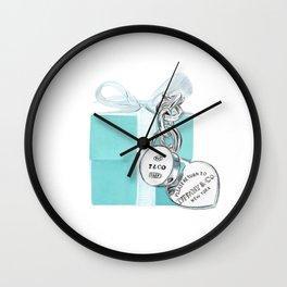 Blue Jewellry Box Wall Clock