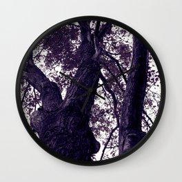 Ultra Violet Winter Trees Wall Clock