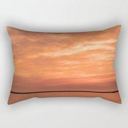 wonderful sunset Rectangular Pillow