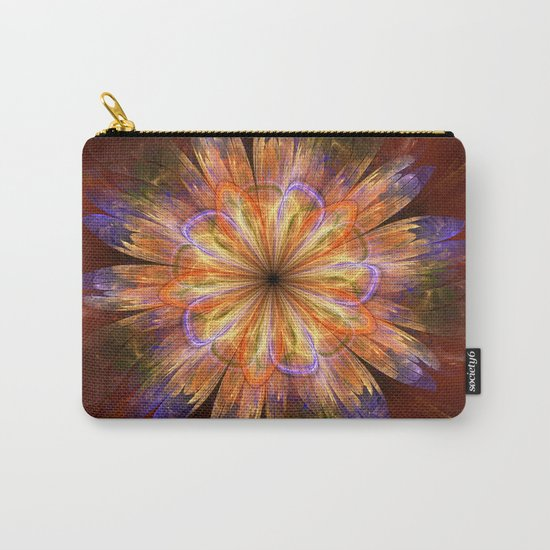 Artistic fantasy flower in summer colors Carry-All Pouch