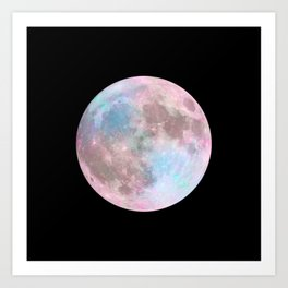 Iridescent Dark Moon Art Print