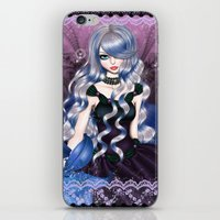 valentina iPhone & iPod Skins featuring Blue Valentina by Valentina Marinaccio