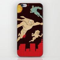 superheroes iPhone & iPod Skins featuring Superheroes by Fat Knack