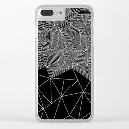 Digital Zentangle Incomplet Dark Clear iPhone Case
