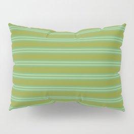 baby poo + mint stripes Pillow Sham