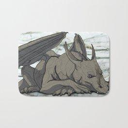 Grey Dragon Bath Mat