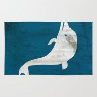 dolphin Area & Throw Rugs featuring Dolphin by Renato Armignacco