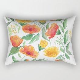 Spring Wildflowers Rectangular Pillow