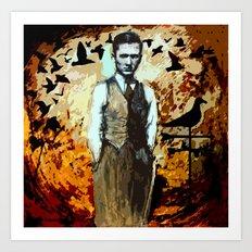 The Man Who Summoned Birds Art Print