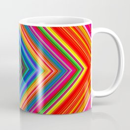 Rainbow Abstract Psychedelic Neon Dawn Triangle Design - Pink and  Orange Coffee Mug