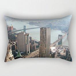 Vintage New City Rectangular Pillow