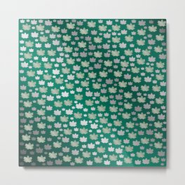 green shiny mosaic Metal Print