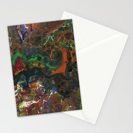 The Reef II - Original, abstract, fluid, acrylic painting Stationery Cards