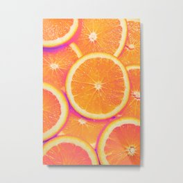 Mediterranean Retro Fruit Poster  Metal Print
