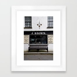 Store Front From the Past Framed Art Print