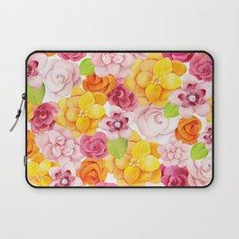 Colorful Summer Flowers Laptop Sleeve