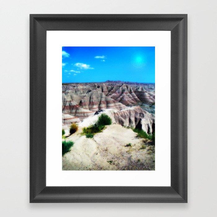 Badlands National Park, South Dakota Framed Art Print