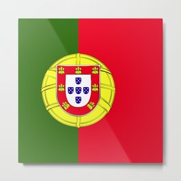Portugal flag emblem Metal Print